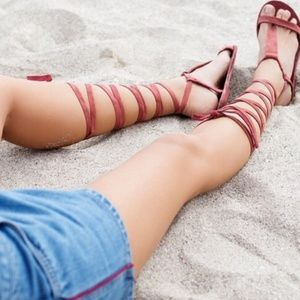 NIB Free People Dahlia Gladiators 7.5-8 Rust